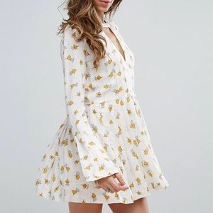 FREE PEOPLE Floral Mini Dress